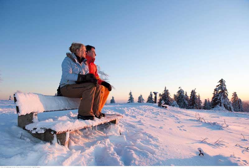 Winterliches Wochenende und Tannenbaumschlagen